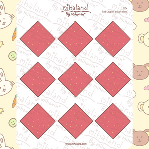 Red Couplets Square Notes Planner Stickers (F104)