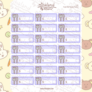 Purple Meal Expenses Trackers Planner Stickers (F120)