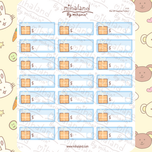 Blue Gift Expenses Trackers Planner Stickers (F133)
