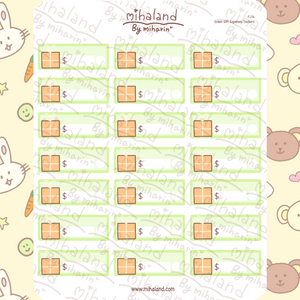 Green Gift Expenses Trackers Planner Stickers (F134)