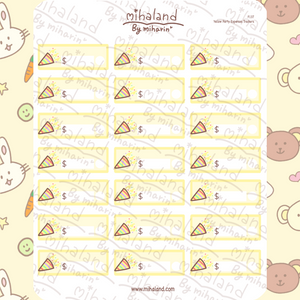 Yellow Party Expenses Trackers Planner Stickers (F137)