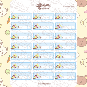Blue Party Expenses Trackers Planner Stickers (F138)