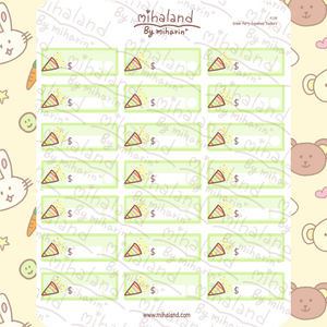 Green Party Expenses Trackers Planner Stickers (F139)