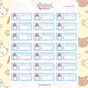 Blue Baby Expenses Trackers Planner Stickers (F143)