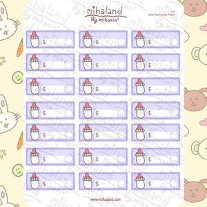 Purple Baby Expenses Trackers Planner Stickers (F145)