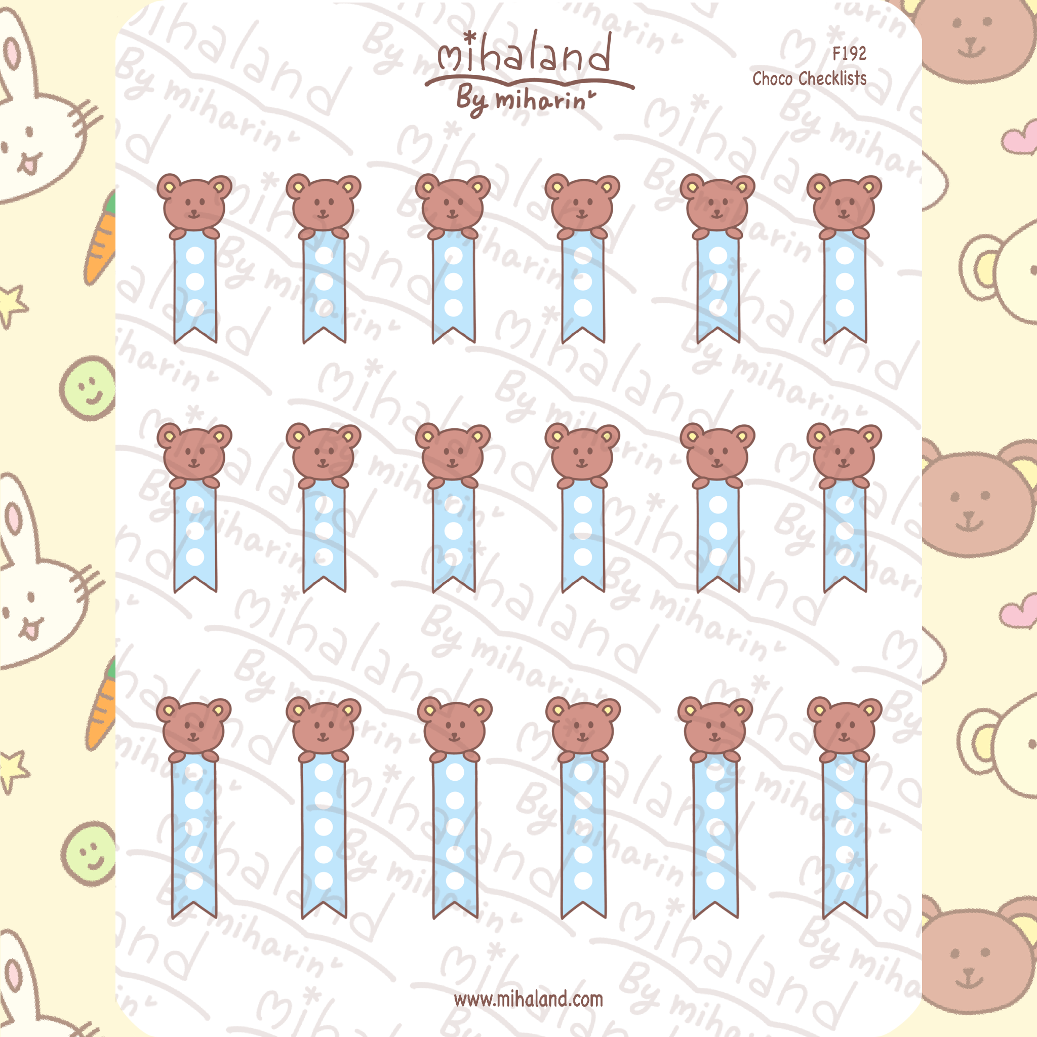 Choco Checklists Planner Stickers (F192)