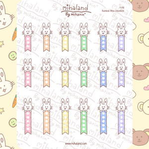 Rainbow Miyu Checklists Planner Stickers (F198)