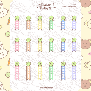 Rainbow Kame Checklists Planner Stickers (F199)