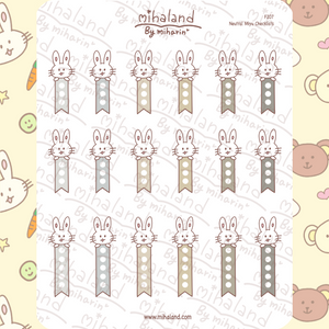Neutral Miyu Checklists Planner Stickers (F207)
