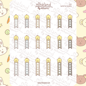 Neutral Tori Checklists Planner Stickers (F215)