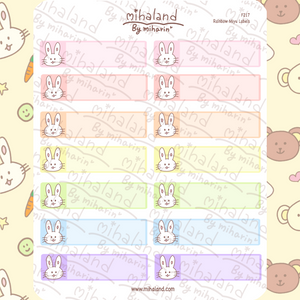 Rainbow Miyu Labels Planner Stickers (F217)