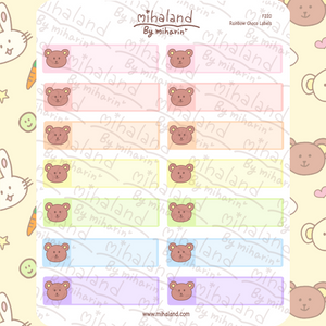 Rainbow Choco Labels Planner Stickers (F220)