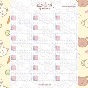 Mini Pastel Reading Trackers Planner Stickers (F228)