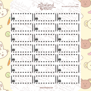 Mini Movie & TV Show Trackers Planner Stickers (F230)