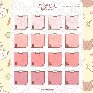 Assorted Red Miyu Sticky Notes Planner Stickers (F234)
