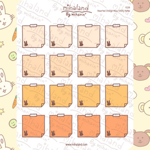 Assorted Orange Miyu Sticky Notes Planner Stickers (F239)