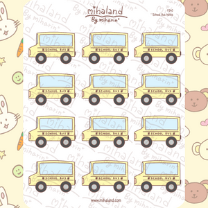 School Bus Notes Planner Stickers (F240)