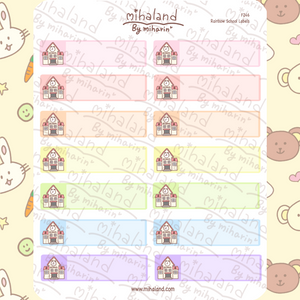 Rainbow School Labels Planner Stickers (F246)
