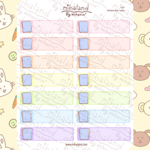 Rainbow Book Labels Planner Stickers (F247)