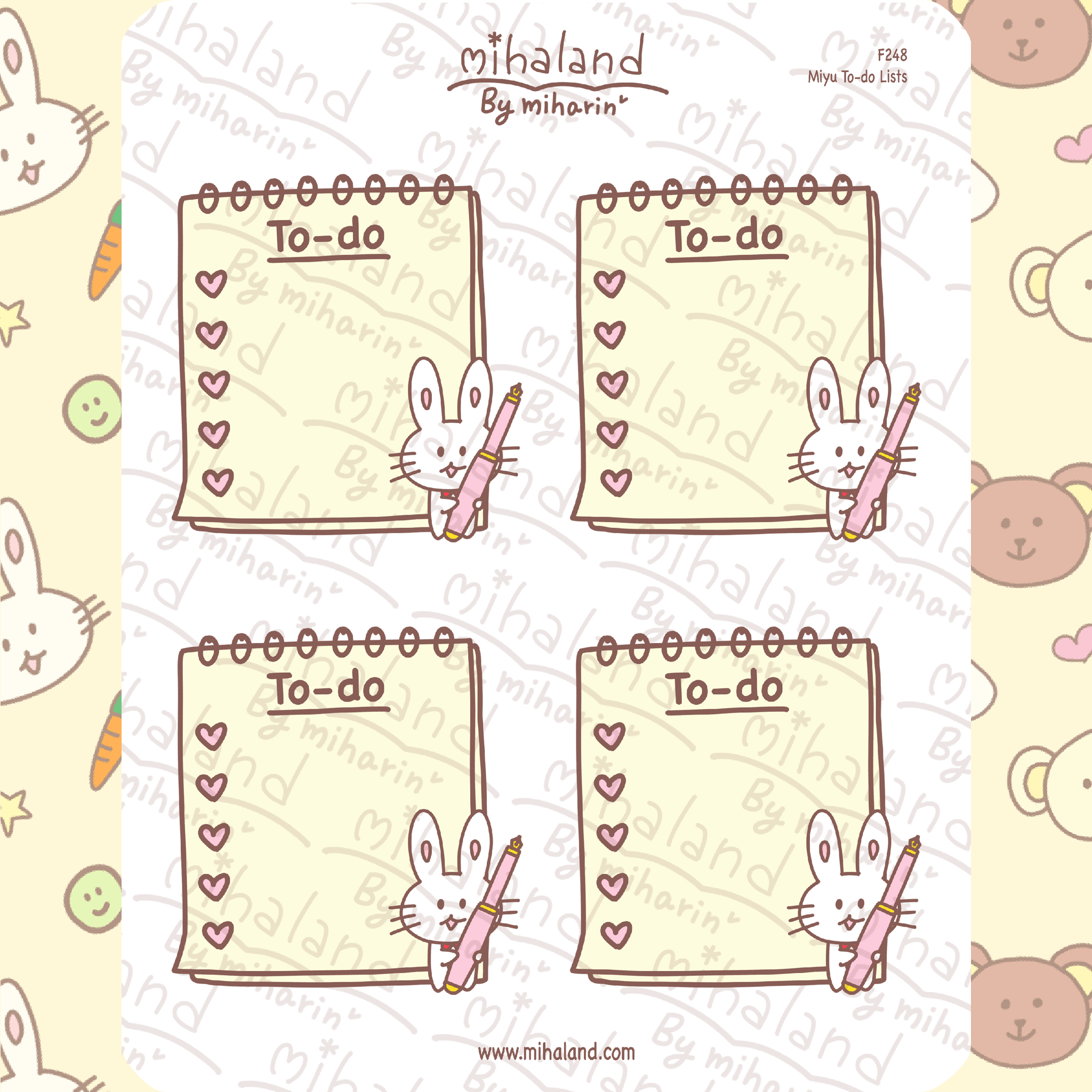 Miyu To-do Lists Planner Stickers (F248)