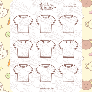 Plain Idol Wota T-shirt Notes Planner Stickers (F265)