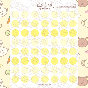 Assorted Pastel Yellow Mini Dots Planner Stickers (F271)