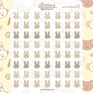 Assorted Pastel Natural Mini Miyu Planner Stickers (F298)