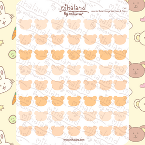 Assorted Pastel Pink Mini Cream & Choco Planner Stickers (F302)