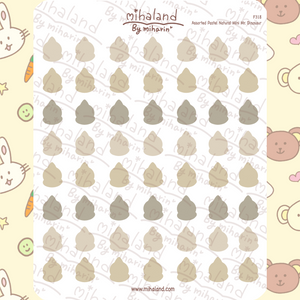 Assorted Pastel Natural Mini Mr. Dinosaur Planner Stickers (F318)