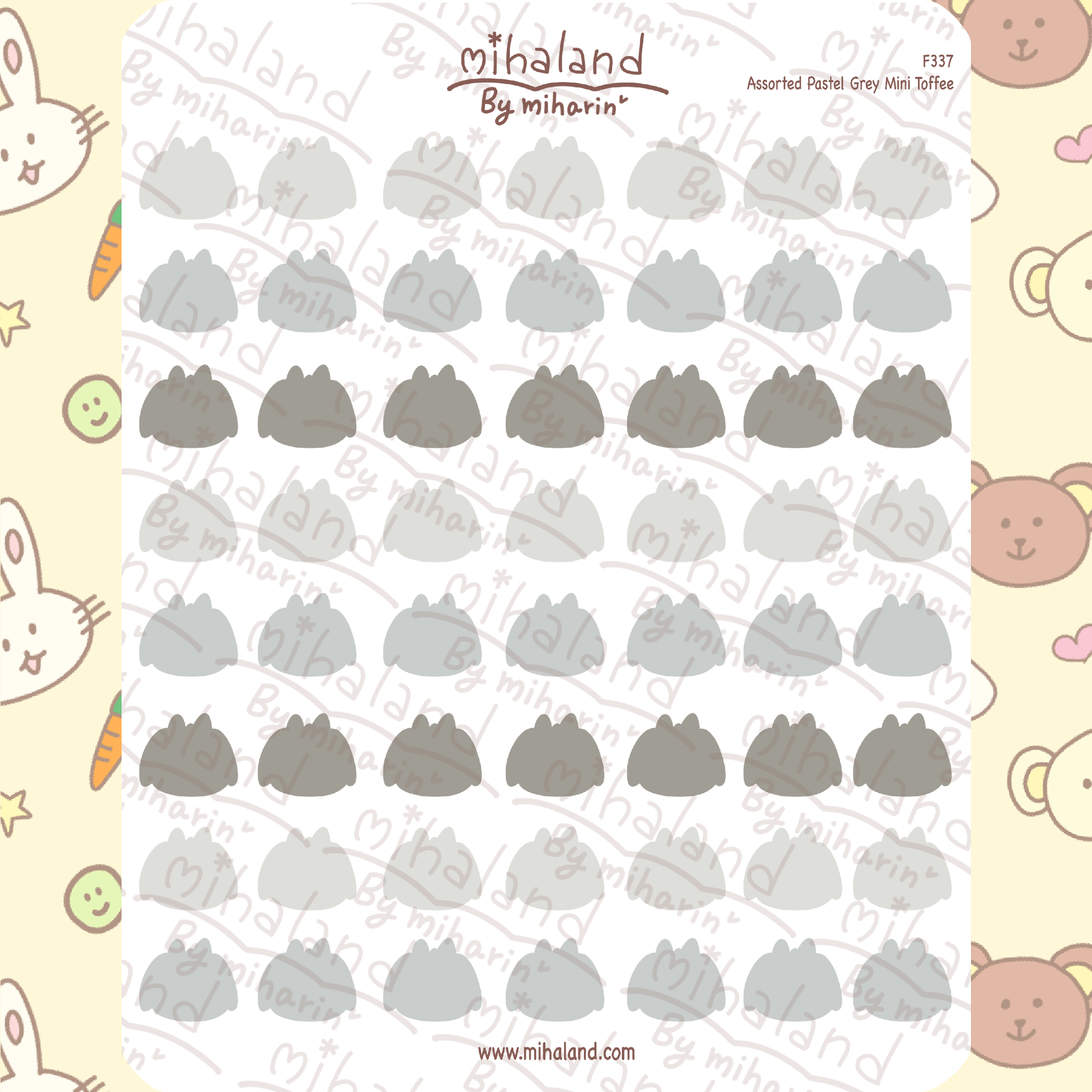 Assorted Pastel Purple Mini Toffee Planner Stickers (F337)