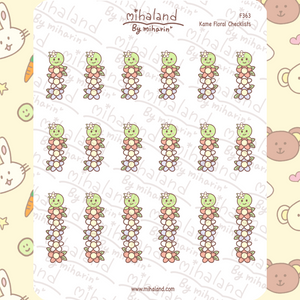 Kame Floral Checklists Planner Stickers (F363)