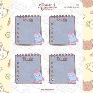 Mel in Rocket To-do Lists Planner Stickers (F378)