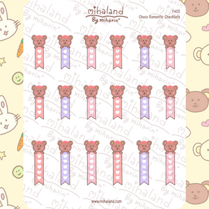 Choco Romantic Checklists Planner Stickers (F402)