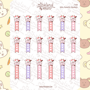Milky Romantic Checklists Planner Stickers (F408)