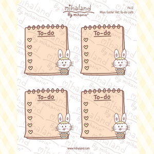 Miyu Easter Ver. To-do Lists Planner Stickers (F412)