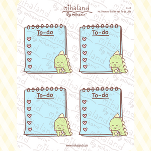 Mr. Dinosaur Easter Ver. To-do Lists Planner Stickers (F413)