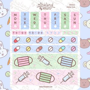 mihaland - Medical Icons Hobonichi Weeks Mini Kit Planner Stickers (HWW016)