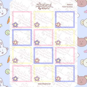 mihaland - Flower Full Boxes Weeks Mini Kit Planner Stickers (HWW018)