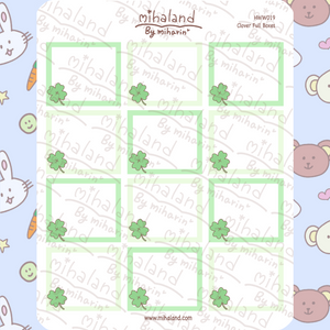 mihaland - Clover Full Boxes for Hobonichi Weeks Planner Stickers (HWW019)