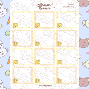 mihaland - Cheese Full Boxes for Hobonichi Weeks Planner Stickers (HWW022)