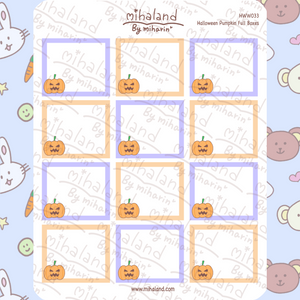 Halloween Pumpkin Full Boxes for Hobonichi Weeks Planner Stickers (HWW033)