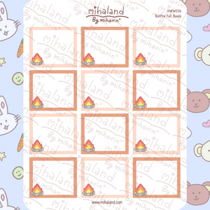Bonfire Full Boxes for Hobonichi Weeks Planner Stickers (HWW036)