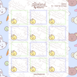 Tori - Flower Ver. Full Boxes for Hobonichi Weeks Planner Stickers (HWW042)