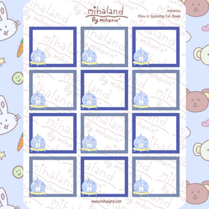 Miyu in Spaceship Full Boxes for Hobonichi Weeks Planner Stickers (HWW044)