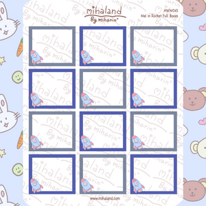Mel in Rocket Full Boxes for Hobonichi Weeks Planner Stickers (HWW045)