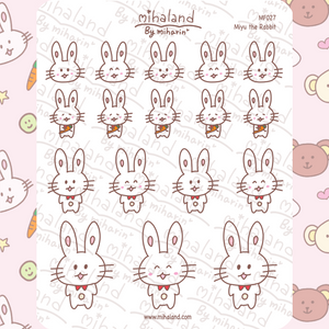 mihaland - Miyu the Rabbit Planner Stickers (MF027)