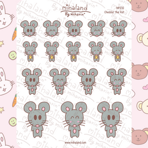 mihaland - Cheddar the Rat Planner Stickers (MF032)