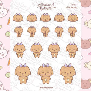 mihaland - Toffee the Dog Planner Stickers (MF033)