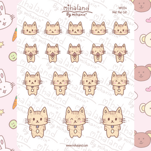 mihaland - Mel the Cat Planner Stickers (MF034)