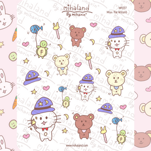mihaland - Miyu the Wizard Planner Stickers (MF037)